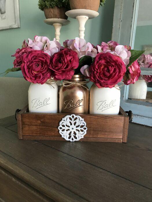 Красивая декоративная подставка для вазочек или свечей. /Фото: i.pinimg.com