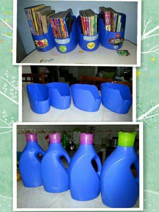 Дешевый органайзер для хранения книг. /Фото: i.pinimg.com