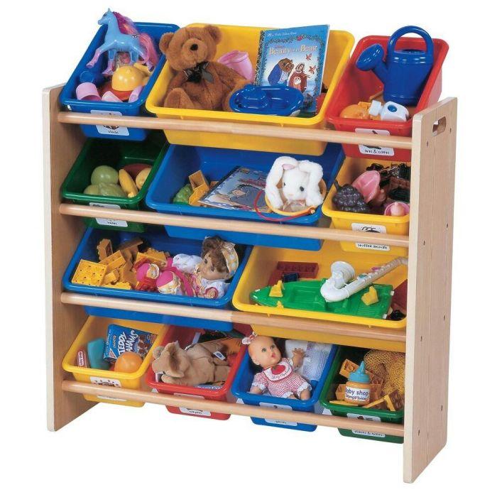 Удобные полочки для хранения игрушек разного размера. /Фото: i.pinimg.com