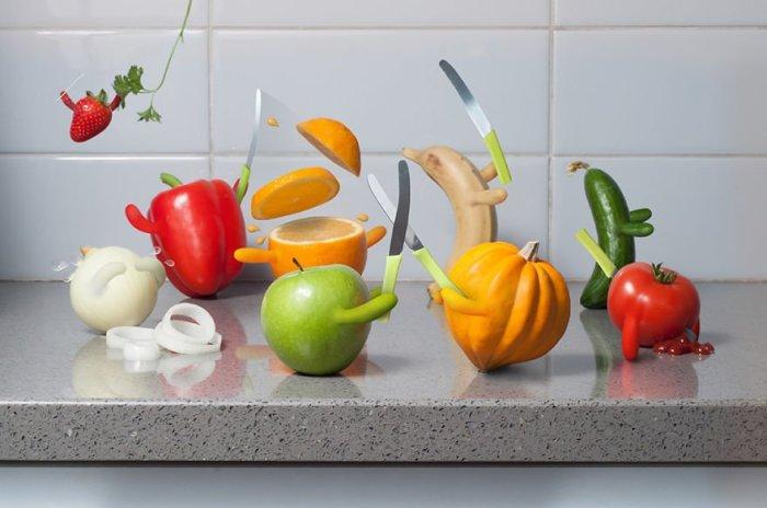 Драка за главенство может быть и у овощей. /Фото: www.bugaga.ru
