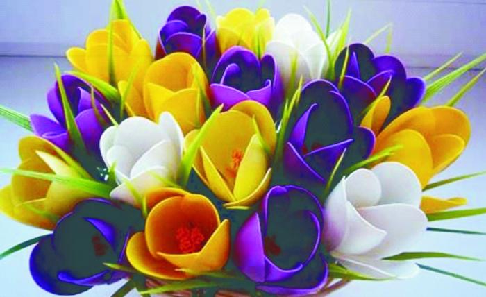 Яркие ирисы. /Фото: shansplus.com.ua