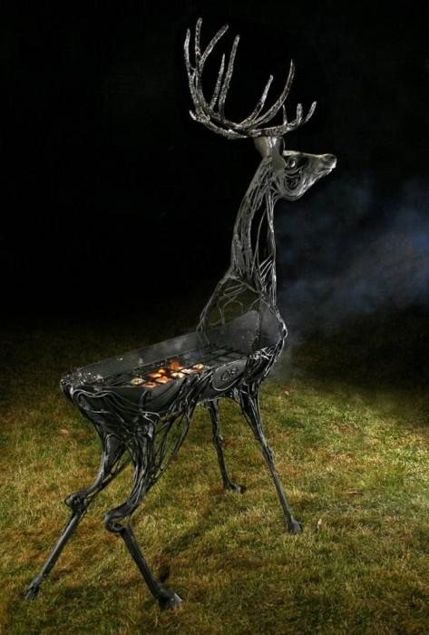 Грациозный олень. /Фото: grillver.ru