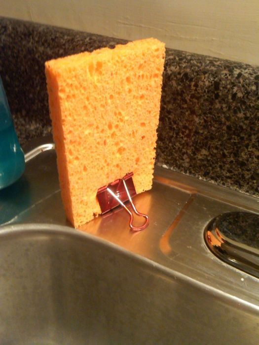 Просушивание губки убережет от лишних микробов. /Фото: i.imgur.com