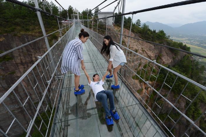 Некоторых приходится в буквальном смысле затаскивать на мост для «веселой» прогулки. /Фото: cdn0.vox-cdn.com