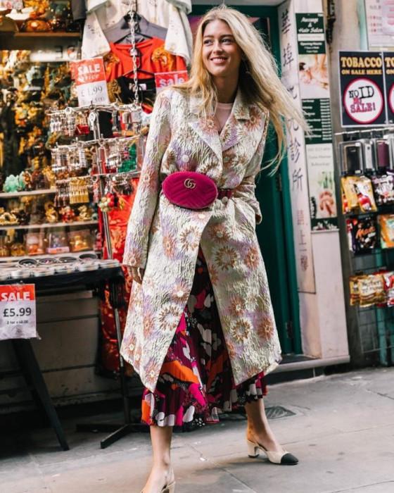 Поясная сумка в женственном образе. /Фото: 1001post.com