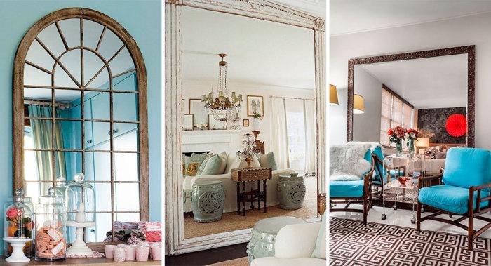 10 крутых идей с зеркалами, которые помогут сделать интерьер в комнате незабываемым.