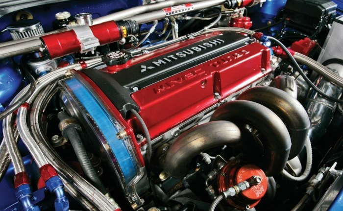 Mitsubishi 4G63 часто подвергался совершенно сумасшедшему тюнингу.