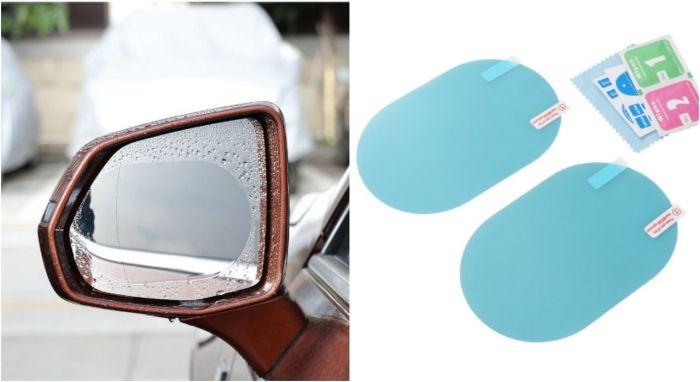 Решением могут стать специальные пленки, которые наклеиваются на зеркало, и отталкивают оттуда влагу.