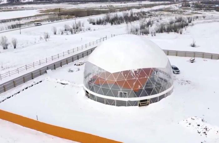 Энергосберегающий купол обеспечит более комфортную температуру (Якутия). | Фото: rg.ru/ канал ОТР.