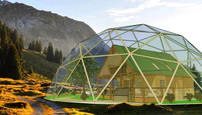 Северо-Восточный федеральный университет и компания Sinet Group разработала экспериментальный жилой дом под куполом. | Фото: gazeta-bam.ru.