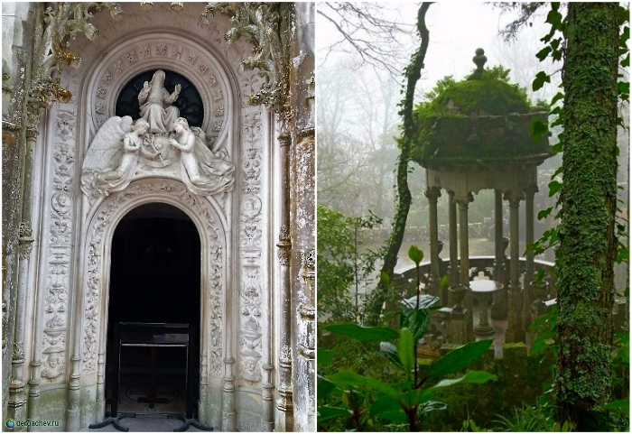 Если сбиться с «праведного» пути, можно выйти к часовне или беседке (Quinta da Regaleira, Синтра).