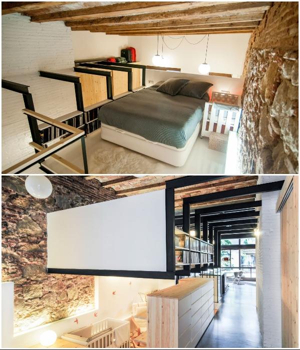 Интерьер дома-студии оформлен в эклектическом стиле, открывающем огромные возможности в создании особенного дизайна (проект Carles Enrich). | Фото: arquitecturazonacero.blogspot.com.