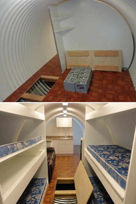 Большая часть коммуникаций и технических отсеков спрятали под полом (Подземный бункер-труба Atlas).