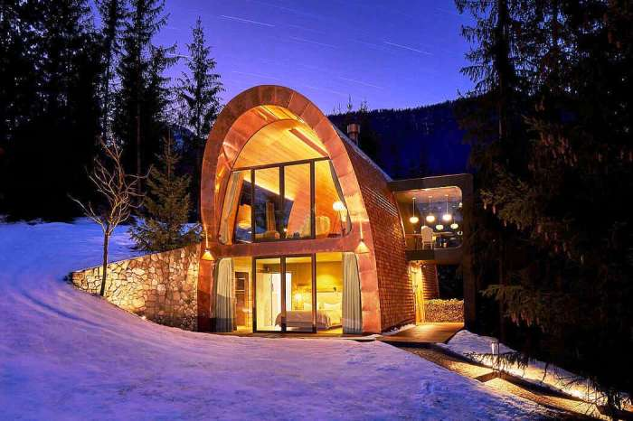 На горнолыжном курорте La Villa в Альта Бадия появился новый отельный номер, созданный в стиле шале (Mi Chalet, Италия). | Фото: archilovers.com/ © Luca Visciani.