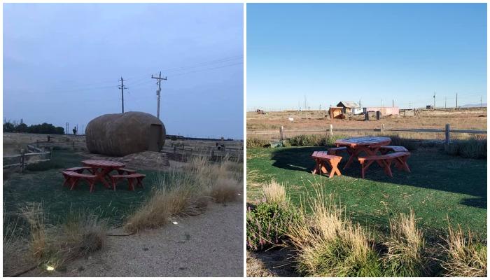 Зона отдыха на свежем воздухе (Big Idaho Potato Hotel).