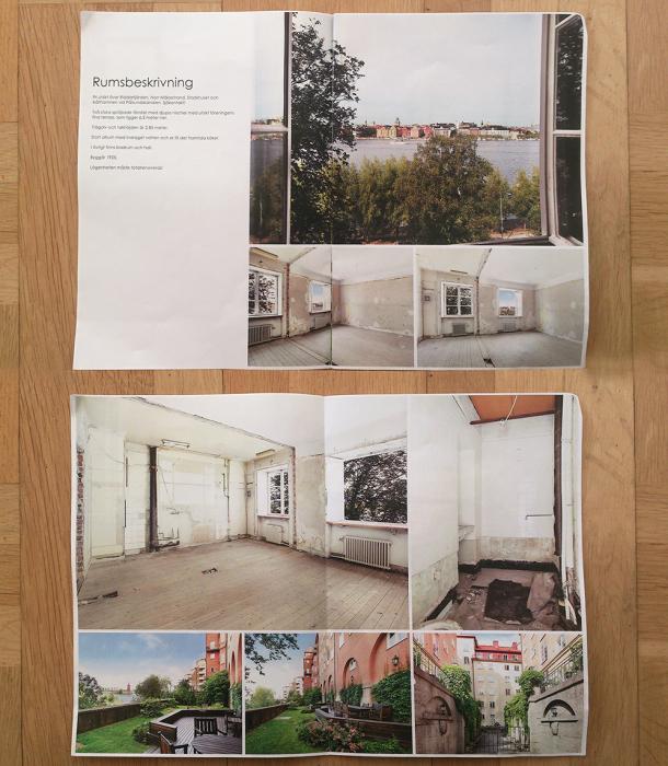 Так выглядела квартира-склад во время аукциона (Стокгольм, Швеция). | Фото: karinmatz.se.