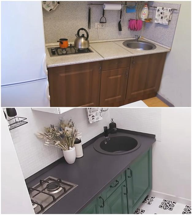 Понадобилась всего лишь неделя и 20 тыс. руб., чтобы кухня стала более современной и приятной.