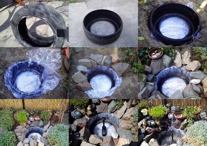 Пошаговая инструкция: как сделать пруд из покрышек.