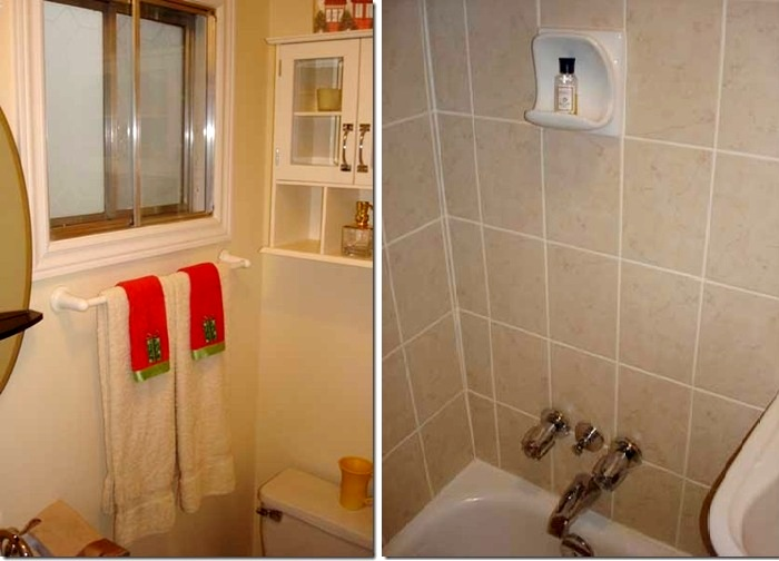 В маленьком домике есть полноценная ванная комната.