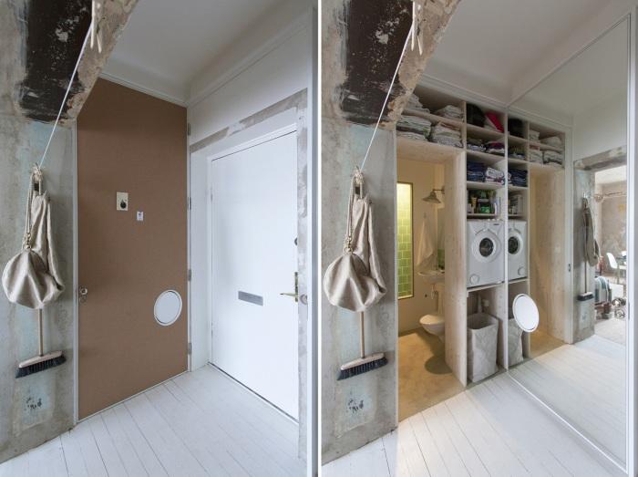 Современная бытовая техника спрятана в шкаф. | Фото: plataformaarquitectura.cl.