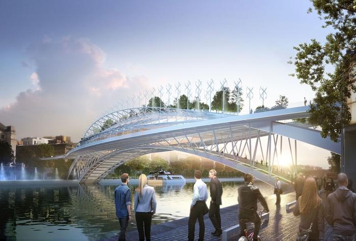 В организации многогранной экосистемы и общественного пространства будут задействованы и водные ресурсы, и прибрежные участки (концепт Vincent Callebaut Architectures). | Фото: worldarchitecture.org.