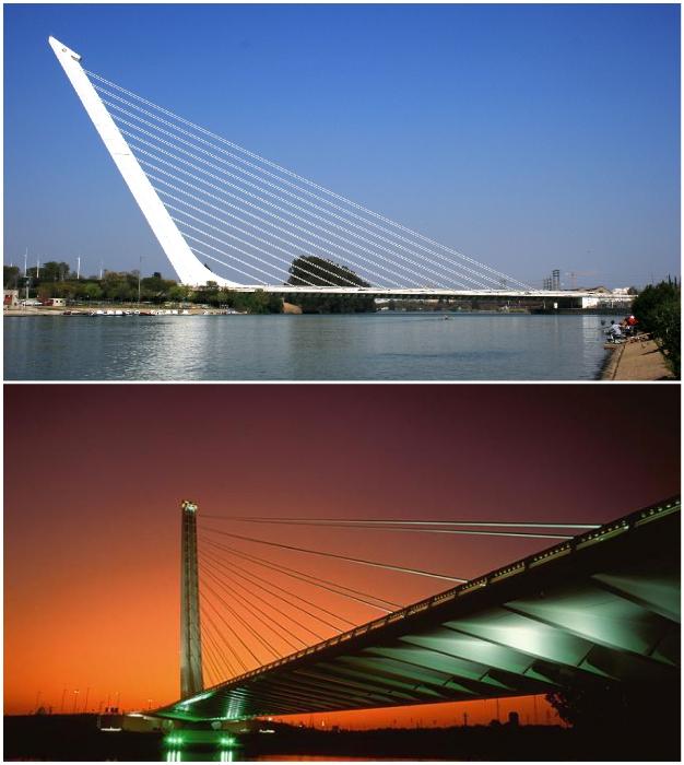 Alamillo Bridge – эффектный объект, украшающий Севилью.