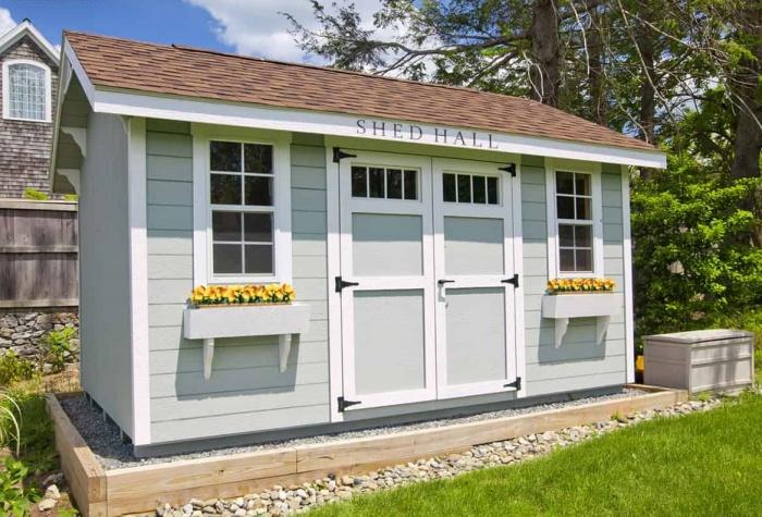 Очаровательный садовый домик мог бы стать идеальным местом для работы активной Лесли Ноуп (концепт Leslie Knope's Office). | Фото: householdquotes.co.uk.