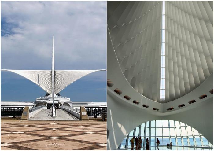 Динамизм и изящество форм стали отличительной чертой Quadracci Pavilion, одного из объектов Художественного музея Милуоки.