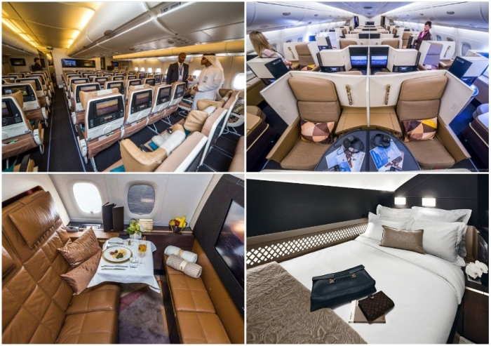 Etihad Airways предлагает люксовые условия перелета для всех своих пассажиров (Airbus А-380 Etihad).
