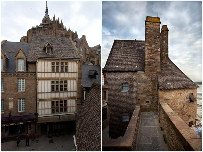 Средневековые строения без труда завоевали «полчища» туристов (аббатство Мон-Сен-Мишель, Франция).