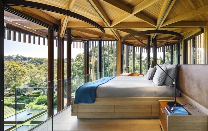 Можно только мечтать, чтобы из спальни открывался такой превосходный вид (Treehouse Paarman, Кейптаун). | Фото: journal.homemania.ru.
