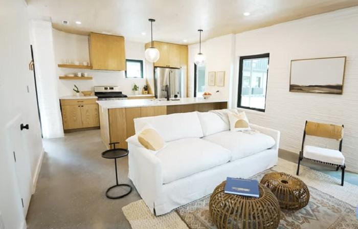 В домах, площадь которых составляет 141 кв. м жилые зоны немного уменьшены, но полностью сохраняют функционал (Остин, Техас). | Фото: © ICON - 3D Tech.