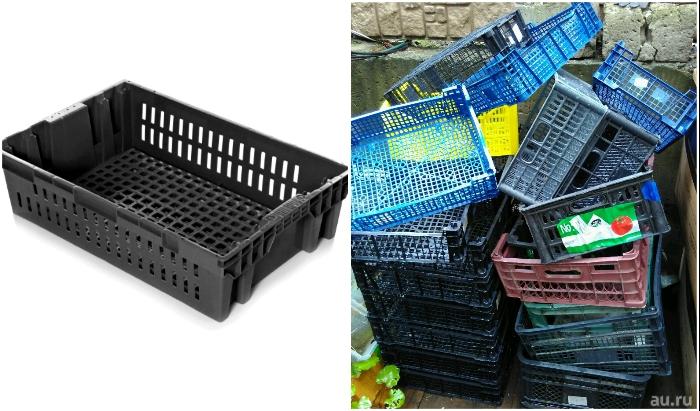 Из пластиковых ящиков, выброшенных на помойку, тоже можно сделать полезные вещи.