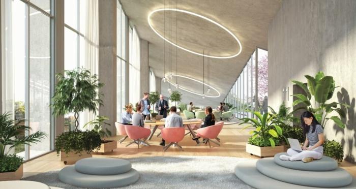 Каждый из сотрудников штаб-квартиры сможет самостоятельно выбирать удобное для работы место (концепт Fase Valley). | Фото: celebritynews.fuzzyskunk.com.