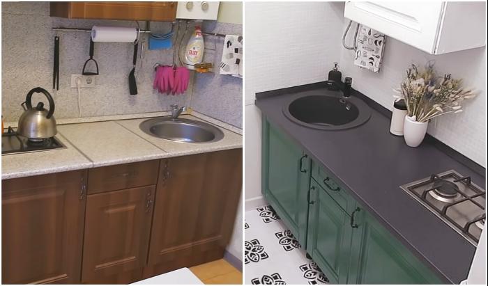 Обновление интерьера кухни на арендованной квартире.