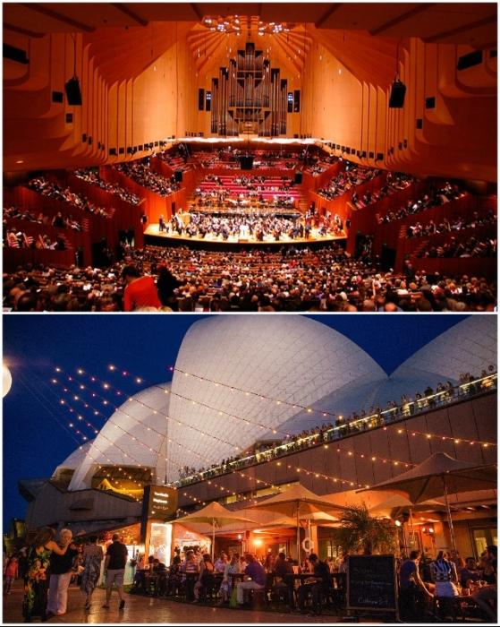 The Sydney Opera House, открыт круглосуточно и 363 дня в году (Австралия).