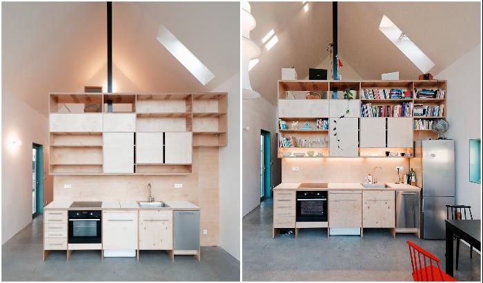 С одной стороны модуля обустроили современную кухню (IST, Словакия).