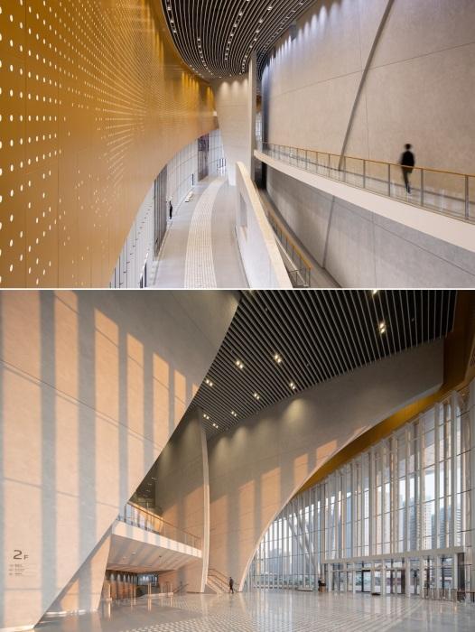 В дизайне интерьера Suzhou Bay Grand Theatre уравновешена двойственность между началами – инь и янь.