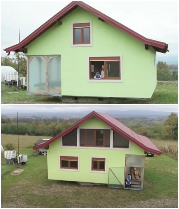 Вращающийся аттракцион в доме Войина Кусича больше всего нравится его внукам (Босния).