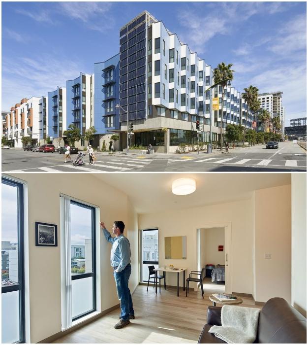 Проект Edwin M. Lee Apartments в Сан-Франциско получил архитектурную премию и Платиновую сертификацию.   Фото: housing.sfgov.org.