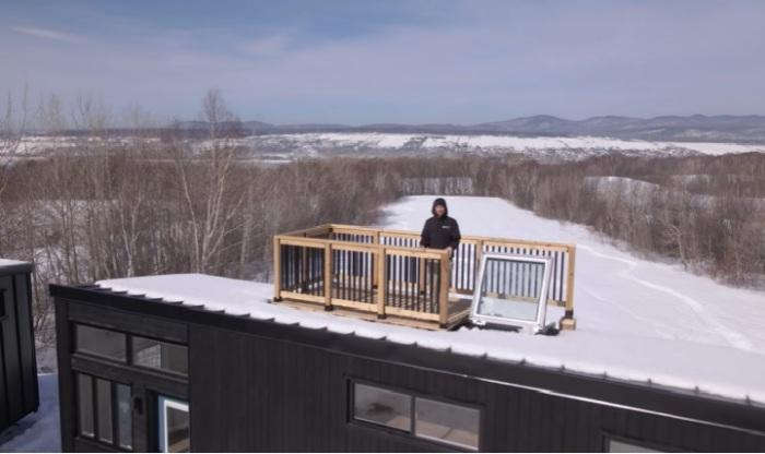 На террасе можно устроить романтичную зону отдыха (Magnolia V8). | Фото: © Minimaliste Houses.