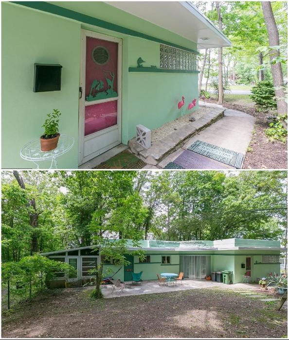 Бонусом для покупателей станет большой участок в природной зоне и уютный задний двор (Eisenberg Residence, Балтимор).