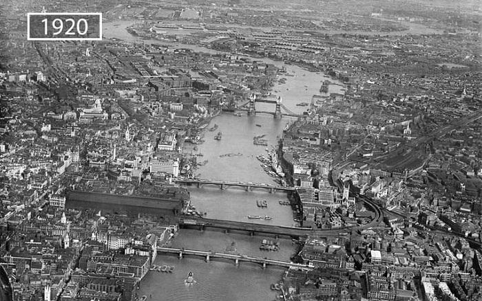 Вид города дождей в 20-е годы прошлого столетия.