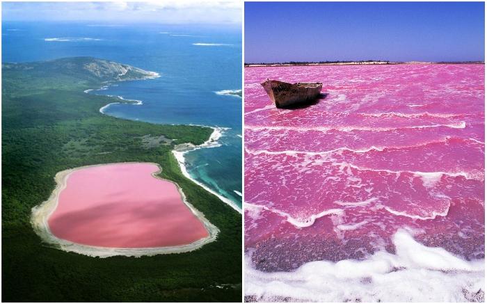 Малиновое озеро Хиллер – самая загадочная достопримечательность Австралии.