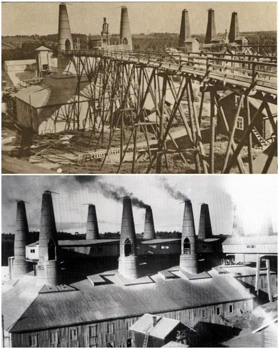 Так выглядел Рускеальский мраморно-известковый завод в период 1937-1939 гг. (Карелия).