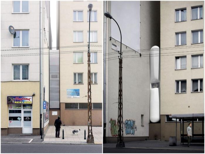 Самый узкий дом в мире Keret House, как связь между эпохами (Варшава, Польша).