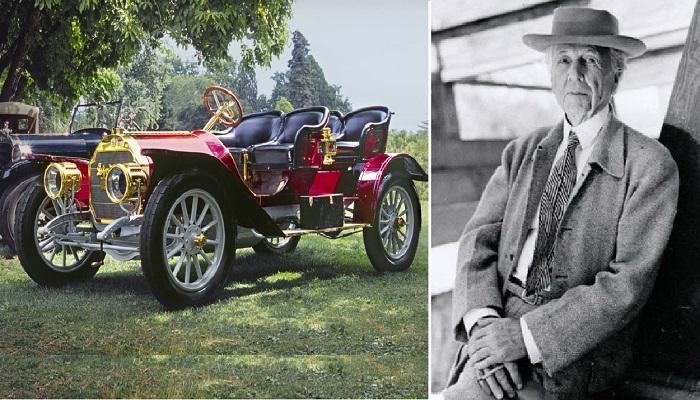 Фрэнк Ллойд Райт был увлечен автомобилями и быстрой ездой.
