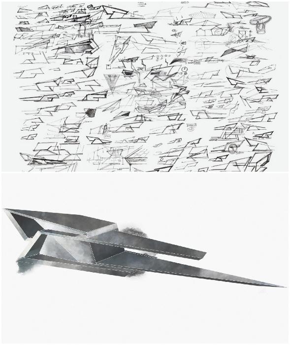 Понадобилось всего лишь несколько часов на создание эскиза, превратившегося в неординарный проект (концепт Blackbird Cabin).