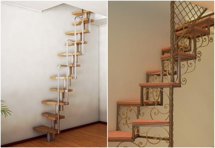 «Ведьмовская лестница» всегда привлечет внимание и станет особым украшением интерьера.
