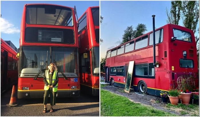 Понадобился год упорного труда чтобы автобус Go-Ahead Volvo Plaxton превратился в уютное гнездышко.